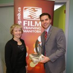 FTM's Executive Director, Neila Benson, and Adam Smoluk.
